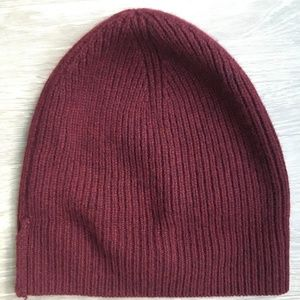 NWOT Red J. Crew Men's Cashmere Beanie